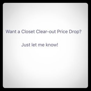 Closet clear-out!